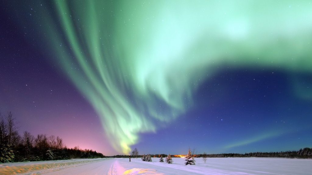 Alaska with the Aurora Borealis is shown in this file photo.