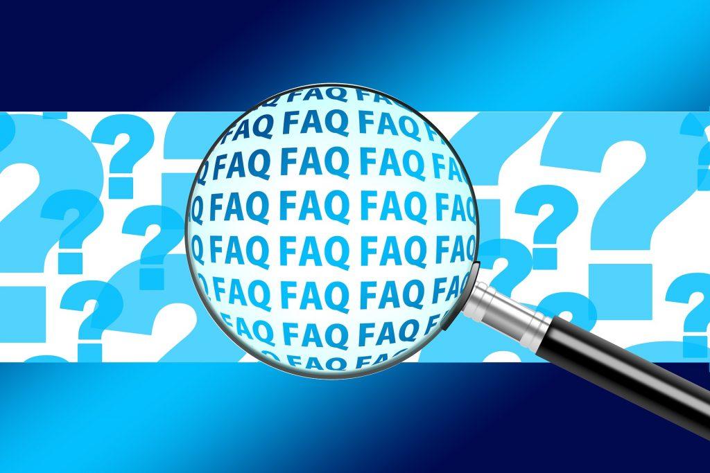 An FAQ image is shown.