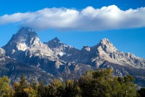 Grand Teton National Park is shown here in Wyoming.